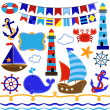 Stock Photo: Vector Collection of Nautical and Sailing Themed Elements