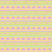Seamless Tileable Vector Background in Pastel Tribal Style — Foto de Stock