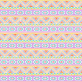 Seamless Tileable Vector Background in Pastel Tribal Style — Stock Photo
