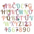 Girly Alphabet Vector Set — Stock Vector #49692709