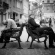 Постер, плакат: Two homeless men sleep