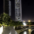 Emirates towers at night. — Stock Photo