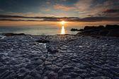 Puesta de sol hvaleyrin — Foto de Stock