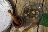 Ingredient clams — Stock Photo