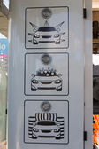 Indicator icons tunnel automatic car wash — Stock Photo