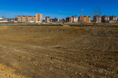 Housing estate under construction — Stock Photo