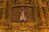 San Froilan. Sculpture church altarpiece — Stock Photo