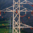 Stock Photo: Towers and power lines with diverter