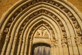 Portão do mosteiro de sandoval. leon. espanha — Foto Stock