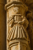 Stone figure of a monk. Sandoval Monastery. Leon. Spain — Stock Photo