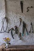 Wall-Hanging Tools — Stock Photo