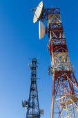 Telecommunications Towers — Stock Photo