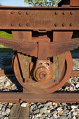 Railway Wheel — Stock Photo