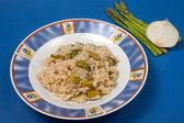 Rice with asparagus — Stock Photo