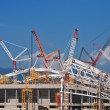 Construction of Fisht Olympic Stadium - Stock Photo