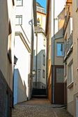 Narrow street in Deutschland — Stock Photo