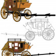 Stagecoach Without Horses Vector 03 — Stock Photo #22953770
