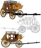 Stagecoach Without Horses Vector 03 — Stockfoto