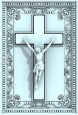 Jesus Christ Crucifix Frame Relief — Stock Photo