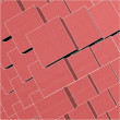 Urban Red City Boxes Cube With Hidden Lines Vector — Stockvektor