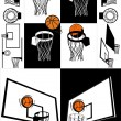 Basketball And Backboard Vector — Stock Vector #23189482