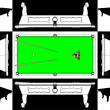 Royalty-Free Stock Vector Image: Billiards Snooker Table Vector
