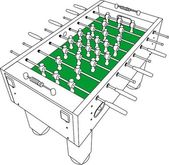 Table Football And Soccer Vector — Stock Vector