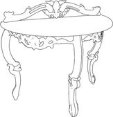 Antique Table Vector — Stock Vector