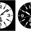 Clock Watch Vector — Stock Vector