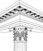 Greek Corinthian Column Vector — Stock Vector