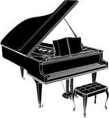 Classic Piano Vector — Stock Vector