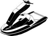 Jet scooter vektor — Stockvektor
