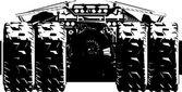 Sport bil vektor — Stockvektor