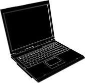 Vetor de computador portátil — Vetor de Stock