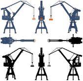 Shipyard Crane Vector — Stock Vector
