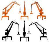造船厂起重机矢量 — 图库矢量图片