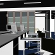 Interior Office Rooms Vector — Imagen vectorial