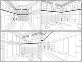Modern Hall Vector — Stock Vector