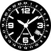 Clock Watch Vector — Stock Vector