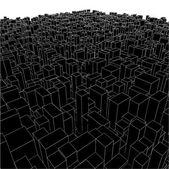 абстрактный городской города коробки из куба вектора — Cтоковый вектор