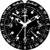 Vector de reloj reloj — Vector de stock
