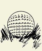 Golf Ball In The Grass Vector — Stock Vector
