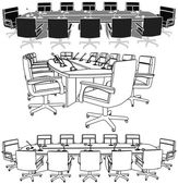 Meeting Conference Table Vector — Stock Vector