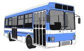 Modern City Bus Vector — Stock Vector