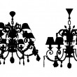 Luster Chandelier Vector — Stockvector #24133983