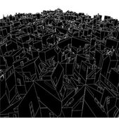 Abstract Urban City Boxes From Cube Vector — Stok Vektör