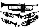 Brass Trumpet Vector — Stock Vector