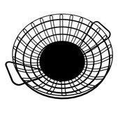 Panier métal fils vector — Vecteur