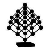 Cube Mesh With Metal Balls Knots Vector — Stock Vector