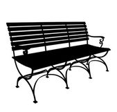 Park Bench Vector — Vettoriale Stock